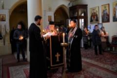 Архиепископ Пражский и Чешских земель Михаил совершил чтение Великого покаянного канона прп. Андрея Критского