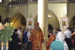 Архиерейское богослужение в день памяти Усекновения главы Иоанна Предтечи